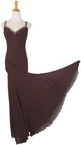 Dina Bar-El Beaded Silk Gown Silk Gown 1930's Style Gown Bias Cut Beaded Gown Beaded Dress