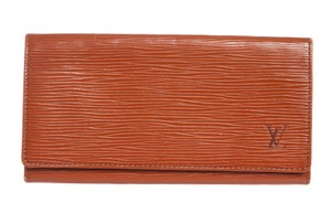 Louis Vuitton Louis Vuitton Sienna Brown Epi Leather Long Bill Wallet