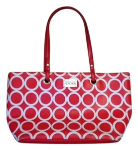 Kenneth Cole Tote in Red / White