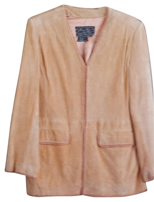 Preload https://item1.tradesy.com/images/terry-lewis-classic-luxuries-peach-suede-blazer-size-6-s-2294290-0-0.jpg?width=400&height=650