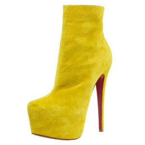 Christian Louboutin Lady Daf Suede yellow Boots
