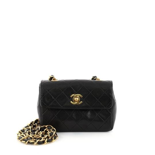 dbb783c3cb7f Chanel Classic Flap Vintage Cc Chain Quilted Extra Mini Black ...