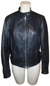 Wilsons Leather Moto midnight blue Leather Jacket