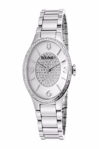 Bulova Bulova Women's 96R193 Quartz Diamond Accents Oval 25mm Bracelet Watch