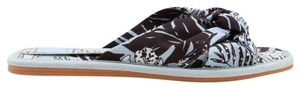 Dolce Vita Palm Print Knotted Slides brown and blue Sandals