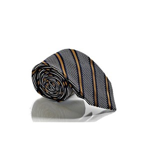 Gucci Gucci Men's Blue Striped Woven Silk Deneb Necktie 408862