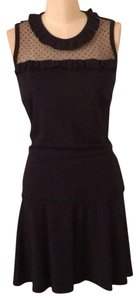 RED Valentino short dress navy with black lace on the top on Tradesy