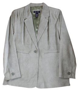 Denim & Co. Sage Green Suede Blazer