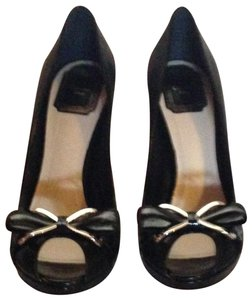 Dior Leather Silver Hardware Black Pumps