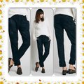 Free People Boyfriend Pants Black Image 1