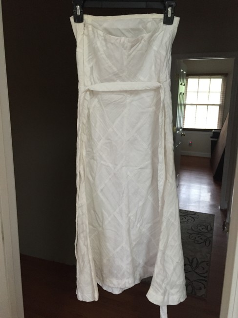 American Eagle Outfitters short dress White Strapless Pathwork No-slip on Tradesy