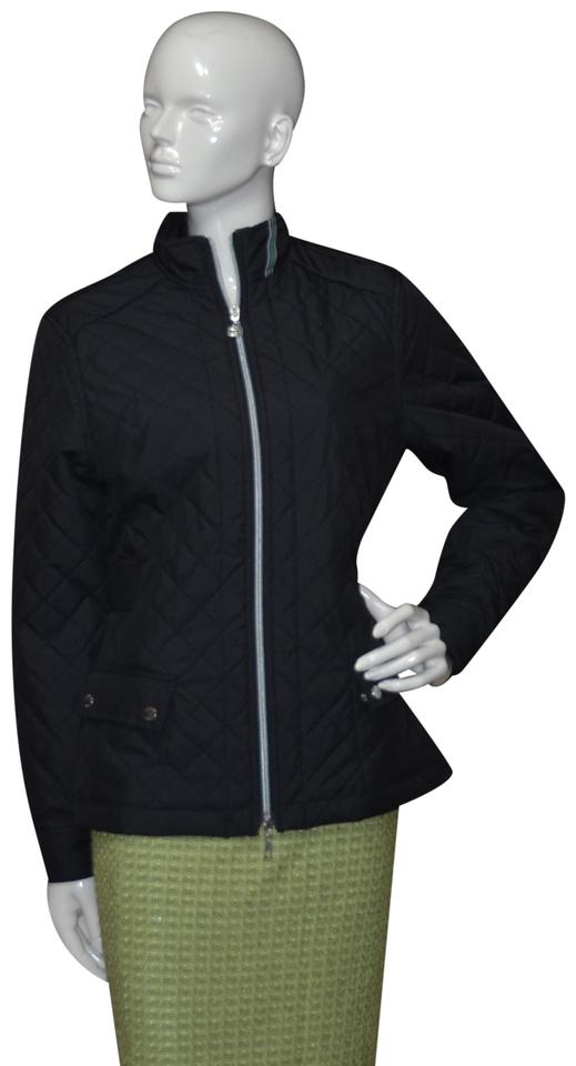 348b1061aad Tommy Hilfiger Navy Blue Golf Zip Front Quilted Jacket Size 6 (S ...