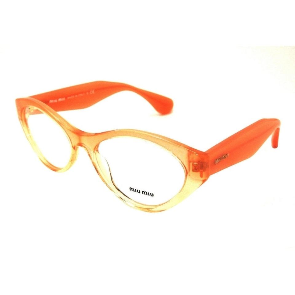 aa2a901c97c Miu Miu Orange Mu03mv-qfi1o1 Cat Eye Womens Frame 52mm Lens Genuine  Sunglasses