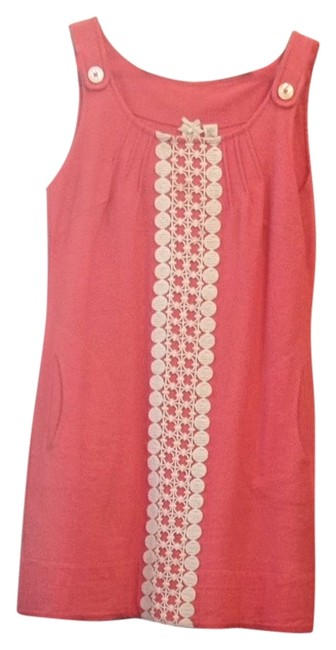 Preload https://item4.tradesy.com/images/nick-and-mo-salmon-with-white-lace-above-knee-romperjumpsuit-size-12-l-2294438-0-0.jpg?width=400&height=650