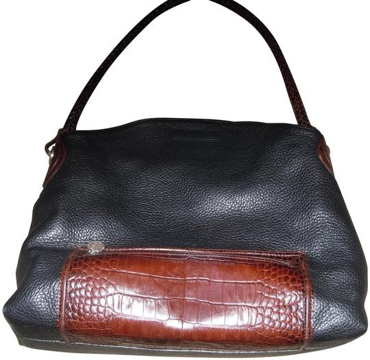 a7356073ab36 Brighton With Trim and Braided Strap Black/Brown Leather Hobo Bag - Tradesy