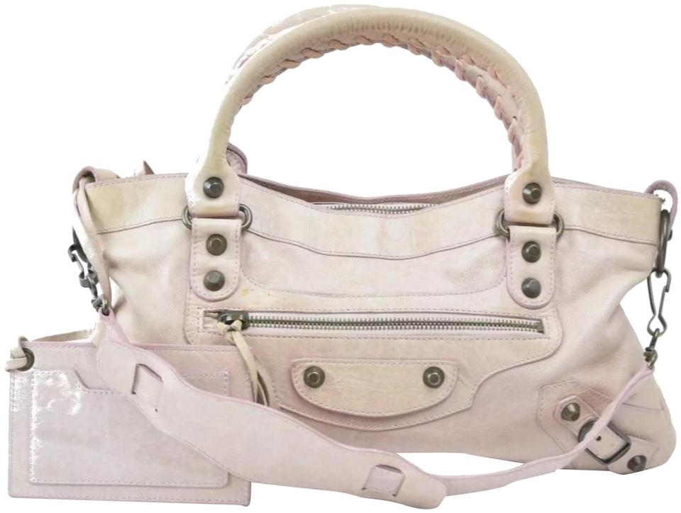 125b548878 Balenciaga First Classique Motorcycle  103208  Pink Chevre Leather ...