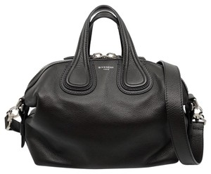 Givenchy Leather Silver Hardware Like New Nightingale Satchel in Black
