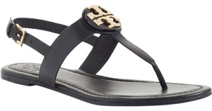 Tory Burch Thong Bryce Black / Gold Sandals
