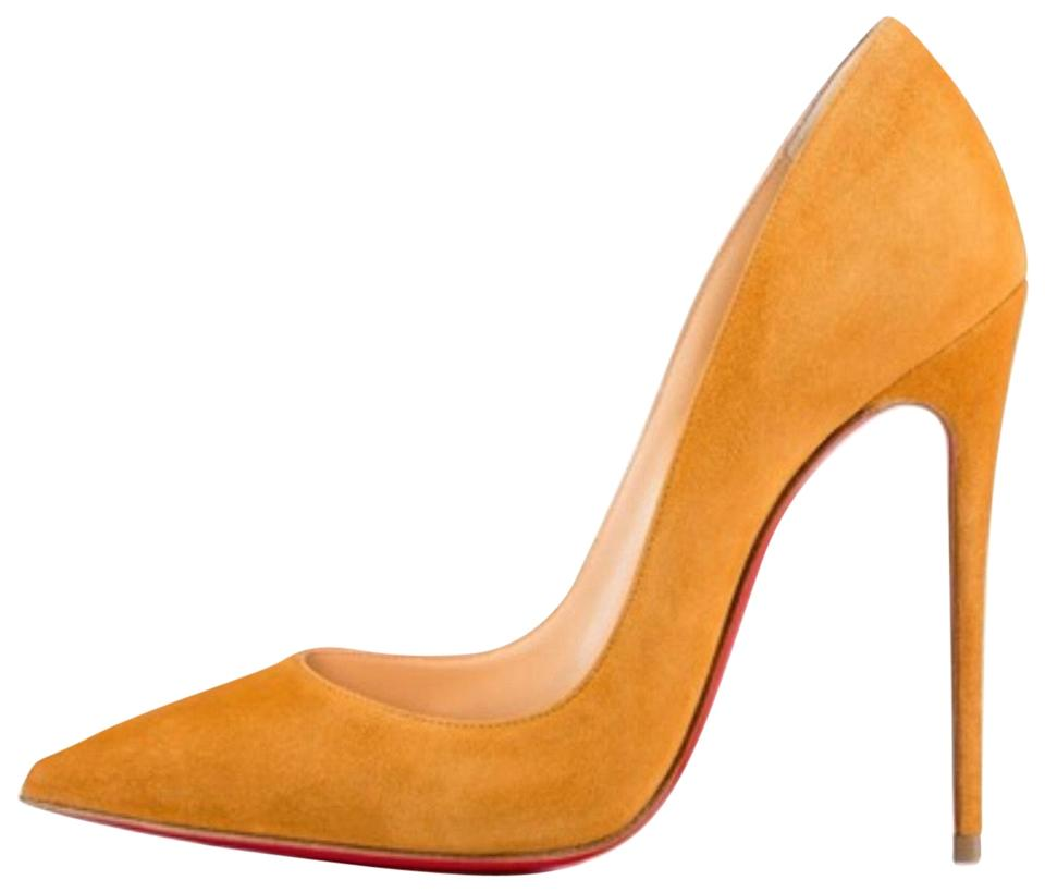 new product 468d2 d0e31 Christian Louboutin Yellow So Kate Full Moon Suede Stiletto Pumps Size EU  35.5 (Approx. US 5.5) Regular (M, B) 19% off retail