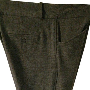 Worthington Straight Pants Brown Print