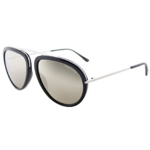 Tom Ford New Tom Ford Sunglasses TF452 01C 57 Black Frame Grey Mirrored Lens