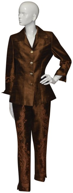 Item - Brown Haute Couture Pant Suit Size OS (one size)