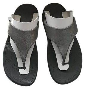 0559b436a92 FitFlop Black Glitter Dot Cross Strap Sandals Size US 10 Regular (M ...