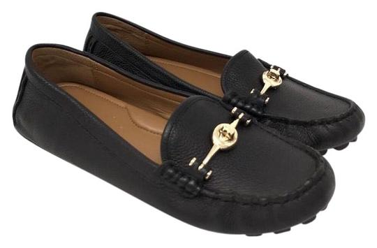 Coach Black Arlene Turnlock Driving Moccasins Loafers ...