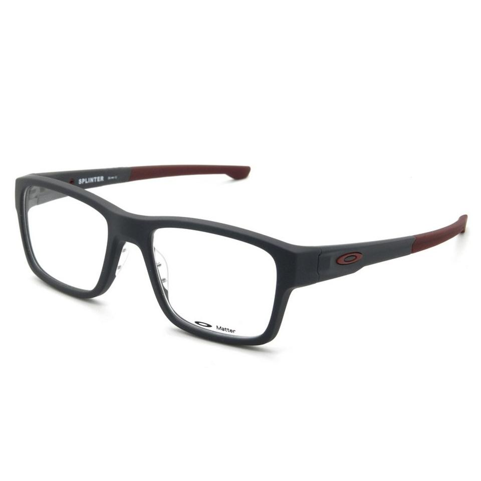 Oakley Ox8077-0654 Splinter Men s Grey Frame Clear Lens Sunglasses ... 675418560162