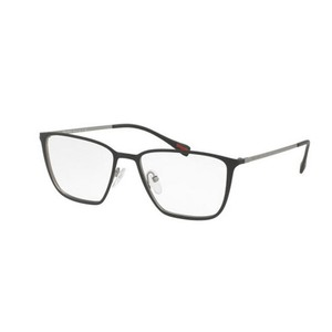 Prada Sports PS51HV-U6U1O1-52 Men's Grey Frame Clear Lens Eyeglasses NWT