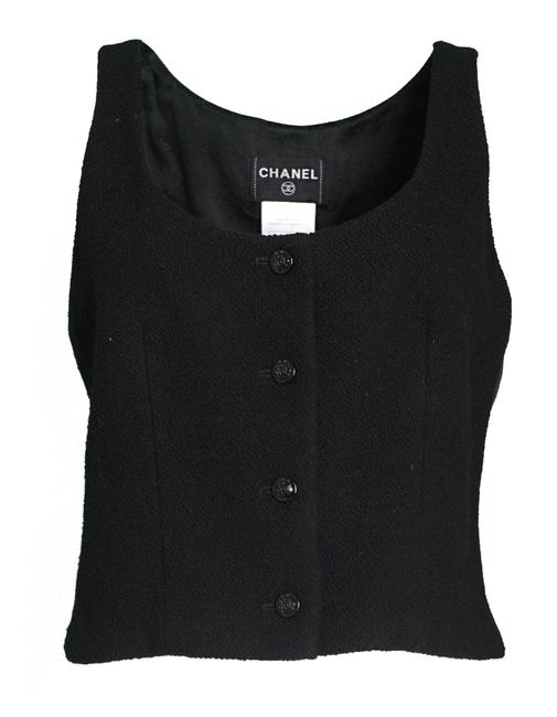 Chanel Black Wool Boucle Fr42 Vest Size 10 (M) Chanel Black Wool Boucle Fr42 Vest Size 10 (M) Image 1
