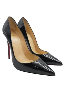 Christian Louboutin Patent So Kate Red Bottoms Patent Leather Black Pumps