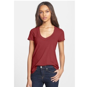 James Perse T Shirt Red