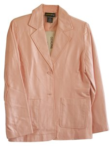 Metro Style Pink Leather Blazer