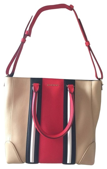 Givenchy Tote in Red/tan/black