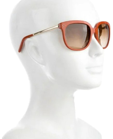 bc4187327291 Chloé Orange Oversized Sunglasses - Tradesy