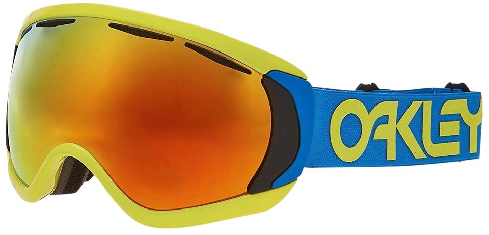 Oakley Yellow Blue & Orange New Ski Goggle Frame Mirrored Lens ...