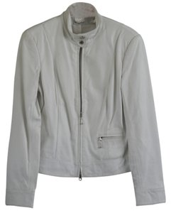 Newport News Cream Leather Jacket