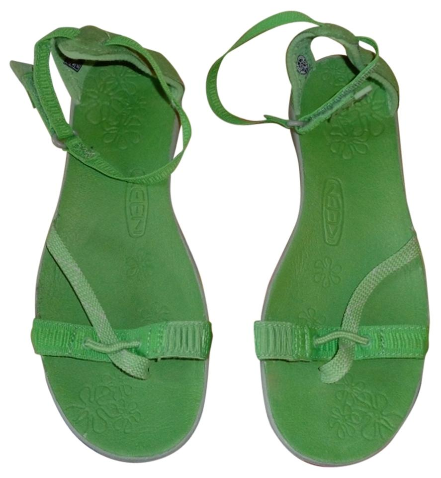 b6f5b28f7bee Keen Green Women s Lapaz Wrap Ankle Strap Jade Drizzle Sandals Size ...