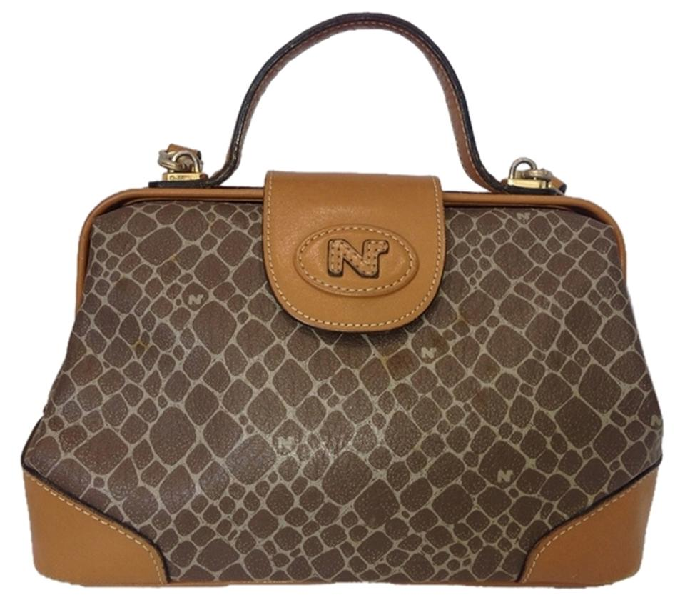 fc112a4576 Nina Ricci Speedy Boston Doctor's Nrlm1 Tan Canvas Satchel - Tradesy