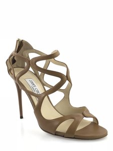 Jimmy Choo Leslie Strappy Brown Sandals