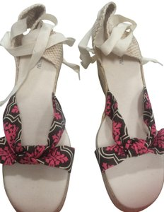 J.Crew Beige with pattern front Wedges