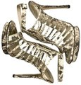 Brian Atwood Snakeskin Caged Stiletto New Ankle Strap Brown Ivory Platforms