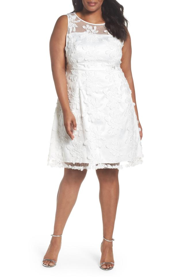 Adrianna Papell White Zelda Short Formal Dress Size 22 (Plus 2x ...