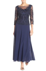 Pisarro Nights Plus Size Size 16w Blue Mother Of The Bride Dress