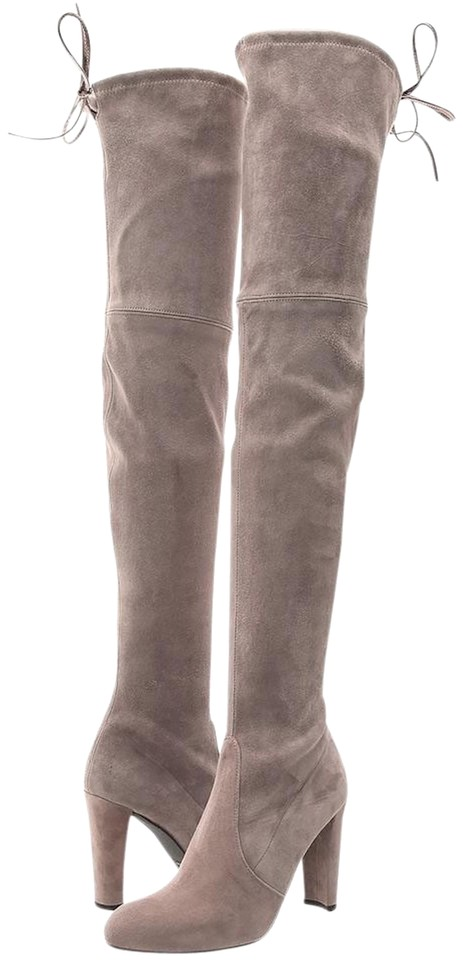 b3f4d6dbb14 Stuart Weitzman Grey Highland Over The Knee In Shade  Topo ~new In ...