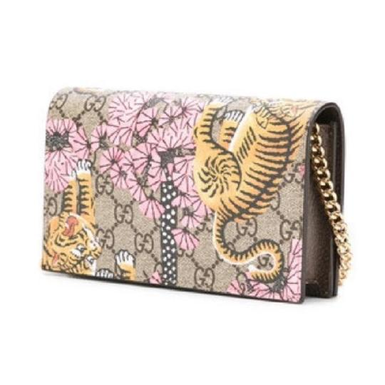 1afcbd0b3304 Gucci Gg Supreme Tiger Bangle Print Wallet On Chain Leather Cross Body Bag  - Tradesy