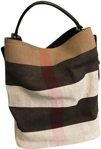 Burberry  megacheck  bucketbag  canvas Shoulder Bag e7a2a39526d37