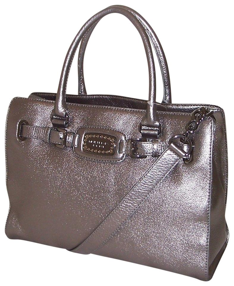 217f4d64f980 Michael Kors Laptop Convertible East West Crystal Rhinestone Tote in  Metallic Gunmetal Grey Image 0 ...