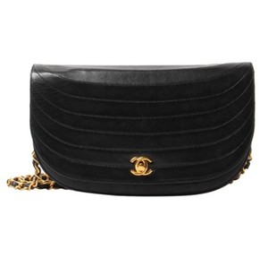 Chanel Vintage Lambskin Leather Shoulder Cross Body Bag